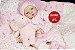 Boneca Bebê Reborn Menina Realista Parece Um Bebê De Verdade Com Enxoval E Chupeta - Imagem 2