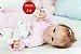 Bebê Reborn Menina Detalhes Reais Boneca Real Lindíssima Um Verdadeiro Presente Com Enxoval - Imagem 1
