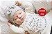 Bebê Reborn Menina Bebê Quase Real Uma Fofura Acompanha Enxoval E Acessórios  - Imagem 2