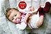 Bebê Reborn Menina Detalhes Reais Bela Bebê Com Enxoval Completo E Uma Linda Chupeta  - Imagem 1