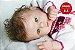 Bebê Reborn Menina Detalhes Reais Bela Bebê Com Enxoval Completo E Uma Linda Chupeta  - Imagem 2