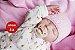 Bebê Reborn Menina Super Realista Com Detalhes Sofisticados Acompanha Lindo Enxoval - Imagem 1