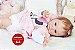 Bebê Reborn Menina Detalhes Reais De Um Bebê De Verdade Acompanha Enxoval E Acessórios - Imagem 1