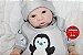 Bebê Reborn Menino Bebê Quase Real 58 Cm Lindo E Perfeito Com Chupeta E Enxoval Completo - Imagem 1