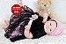 Bebê Reborn Menina Super Realista Parece Um Bebê De Verdade Com Acessórios E Enxoval - Imagem 2