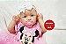 Boneca Bebê Reborn Menina Realista Olhos Azuis Super Fofa E Encantadora Com Enxoval E Chupeta - Imagem 1