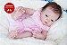 Bebê Reborn Menina Detalhes Reais Toda Em Vinil Siliconado Bebê Sofisticada Com Enxoval - Imagem 1