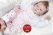 Bebê Reborn Menina Detalhes Reais Bebezinha Bela E Graciosa Acompanha Lindo Enxoval - Imagem 2