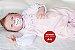 Bebê Reborn Menina Detalhes Reais Bebezinha Bela E Graciosa Acompanha Lindo Enxoval - Imagem 1