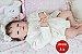 Bebê Reborn Menina Bebê Quase Real Toda Em Vinil Siliconado Com Lindo Enxoval E Acessórios - Imagem 2