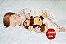 Bebê Reborn Menina Bebê Quase Real Muito Fofa E Perfeita Com Lindo Enxoval E Chupeta - Imagem 1