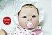 Bebê Reborn Menina Detalhes Reais Linda E Perfeita Acompanha Enxoval E Acessórios - Imagem 1