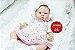 Bebê Reborn Menina Detalhes Reais Linda E Perfeita Acompanha Enxoval E Acessórios - Imagem 2