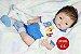 Bebê Reborn Menino Detalhes Reais Bebê Sofisticado Lindíssimo Com Chupeta E Enxoval - Imagem 2
