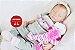 Bebê Reborn Menina Detalhes Reais Um Amor De Bebê Acompanha Lindo Enxoval E Chupeta - Imagem 2