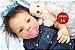 Bebê Reborn Menina Detalhes Reais Graciosa E Perfeitinha Acompanha Chupeta E Lindo Enxoval - Imagem 1