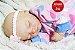 Boneca Bebê Reborn Menina Bebê Quase Real Super Fofa E Realista Com Lindo Enxoval E Chupeta - Imagem 1