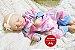 Boneca Bebê Reborn Menina Bebê Quase Real Super Fofa E Realista Com Lindo Enxoval E Chupeta - Imagem 2