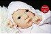 Boneca Bebê Reborn Menina Realista Linda Bebê Reborn Encantadora Com Enxoval E Chupeta - Imagem 1