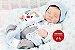 Bebê Reborn Menino Detalhes Reais Anjo Perfeito E Maravilhoso Com Lindo Enxoval E Chupeta - Imagem 2