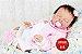 Boneca Bebê Reborn Menina Detalhes Reais Bebê Maravilhosa E Perfeitinha Com Lindo Enxoval - Imagem 1
