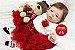Boneca Bebê Reborn Menina Detalhes Reais Muito Fofa Acompanha Lindo Enxoval E Chupeta - Imagem 2