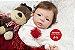 Boneca Bebê Reborn Menina Detalhes Reais Muito Fofa Acompanha Lindo Enxoval E Chupeta - Imagem 1