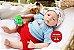 Bebê Reborn Menino Realista Parece Um Bebê De Verdade Encantador Acompanha Lindo Enxoval - Imagem 2