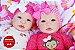 Bebê Reborn Menina Gêmeas Detalhes Reais Lindas E Encantadoras Acompanha Enxoval Completo - Imagem 2