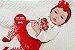 Boneca Bebê Reborn Menina Realista Bebê Quase Real Bonita E Graciosa Com Enxoval E Chupeta - Imagem 2