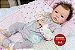Bebê Reborn Menina Super Realista Boneca Artesanal Sofisticada Com Enxoval Completo E Chupeta - Imagem 2