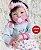 Boneca Bebê Reborn Menina Realista Parece Um Bebê De Verdade Recém Nascida Com Enxoval - Imagem 1