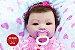 Bebê Reborn Menina Realista Princesa Bonita E Sofisticada Acompanha Lindo Enxoval E Chupeta - Imagem 1