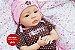 Boneca Bebê Reborn Menina Realista Bebê Super Fofa Recém Nascida Acompanha Lindo Enxoval - Imagem 2