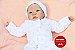Boneca Bebê Reborn Menina Detalhes Reais Sofisticada E Encantadora Com Olhos Azuis Lindíssima - Imagem 1