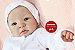 Boneca Bebê Reborn Menina Detalhes Reais Sofisticada E Encantadora Com Olhos Azuis Lindíssima - Imagem 2