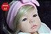 Bebê Reborn Menina Realista Loirinha Com Olhos Azuis Linda E Perfeita Acompanha Enxoval E Chupeta - Imagem 2
