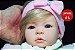 Bebê Reborn Menina Realista Loirinha Com Olhos Azuis Linda E Perfeita Acompanha Enxoval E Chupeta - Imagem 1