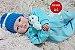 Bebê Reborn Menino Bebê Quase Real Anjinho Lindo E Perfeito Com Enxoval Completo E Chupeta - Imagem 2
