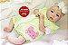 Boneca Bebê Reborn Menina Detalhes Reais Linda Bebê Olhos Azuis Com Enxoval E Chupeta - Imagem 2