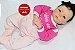 Boneca Bebê Reborn Menina Realista Parece Um Bebê De verdade 43 Cm Delicada E Encantadora - Imagem 2