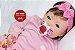 Boneca Bebê Reborn Menina Bebê Quase Real Super Fofa E Encantadora Acompanha Lindo Enxoval - Imagem 1