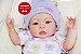 Boneca Bebê Reborn Menina Bebê Quase Real Sofisticada E Perfeita Com Enxoval Completo - Imagem 1