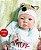 Boneca Bebê Reborn Realista Bonita E Delicada 43 Cm Acompanha Lindo Enxoval E Acessórios - Imagem 1