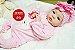 Boneca Bebê Reborn Menina Bebê Quase Real Super Fofa E Realista Com Lindo Enxoval Promoção - Imagem 2