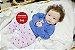 Bebê Reborn Menina Bebê Quase Real Sofisticada E Cheia De Detalhes Acompanha Enxoval E Acessórios - Imagem 2