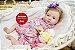 Bebê Reborn Menina Detalhes Reais Bonita E Encantadora Acompanha Acessórios E Enxoval - Imagem 2