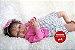 Boneca Bebê Reborn Menina Realista Negra Lindíssima Bebê Recém Nascida Com Enxoval E Chupeta - Imagem 1