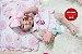 Bebê Reborn Menina Realista Corpo Inteiro Em Vinil Articulável Lindíssima Acompanha Enxoval - Imagem 2