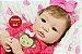 Boneca Bebê Reborn Menina Bebê Quase Real Lindíssima Com Lindo Enxoval Super Promoção - Imagem 1